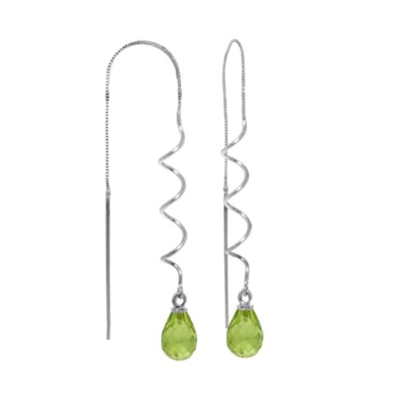 Galaxy Gold Products Jewelry - SILVER   EARRINGS WITH NATURAL PERIDOTS